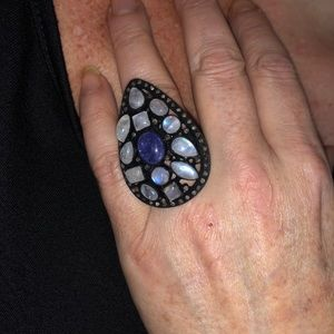 NWOT TANZANITE MOONSTONE ,OLD MINE CUT DIAMOND